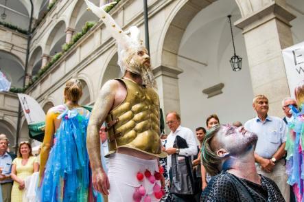 Performance Elio Seidl, Wein und Kunst 2016