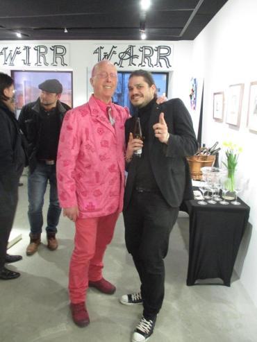 Galeris Lorenz Homolka mit Galeristenfreund Nick Treadwell