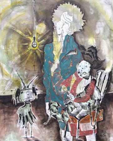 Markus Bittermann, 2017 Acryl / Mixed Media auf Leinwand, 100 x 140 cm