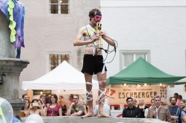 Performance Elio Seidl im Rahmen von Wein & Kunst 2017