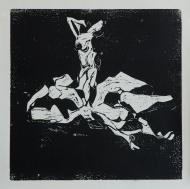 SIEGER UND VERLIERER Holzschnitt 1/6 40x40 cm, 2017