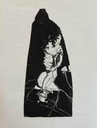 SKATER Holzschnitt auf Bütten ca 50 x 60 cm, Auflage 5, 2017