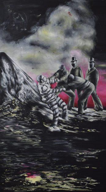 In der Strafkolonie, 90 x 160 cm (2018)